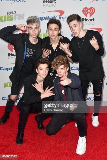 Corbyn Besson Jonah Marais Zach Herron Daniel Seavey and Jack Avery of Why Don't We attend 1027 KIIS FM's Jingle Ball 2017 presented by Capital One...