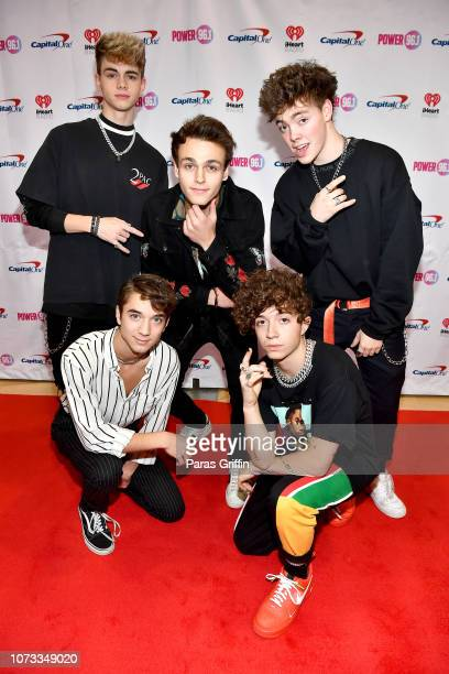 Corbyn Besson Jonah Marais Zach Herron Jack Avery and Daniel Seavey of Why Don't We attend Power 961's Atlanta Jingle Ball on December 14 2018 in...