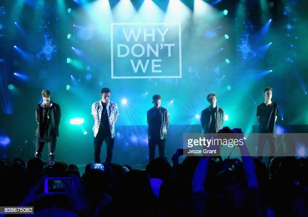 Corbyn Besson Jonah Marais Zach Herron Jack Avery and Daniel Seavey of Why Don't We perform onstage during MTV Presents VMA Weekend at Avalon on...