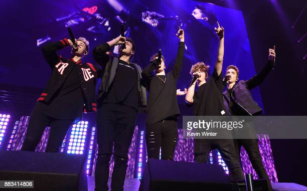 Corbyn Besson Jonah Marais Zach Herron Jack Avery and Daniel Seavey of Why Don't We perform onstage at WiLD 949's FM's Jingle Ball 2017 Presented by...