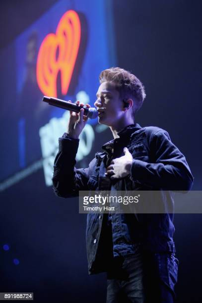 Corbyn Besson of Why Don't We performs onstage during 1035 KISS FM's Jingle Ball 2017 at Allstate Arena on December 13 2017 in Rosemont Illinois