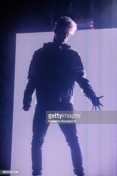 Corbyn Besson of Why Don't We performs onstage during KISS 108's Jingle Ball 2017 presented by Capital One at TD Garden on December 10 2017 in Boston...