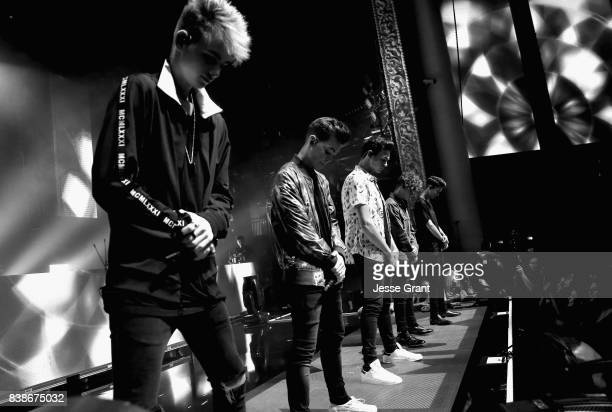Corbyn Besson Zach Herron Jonah Marais Jack Avery and Daniel Seavey of Why Don't We perform onstage during MTV Presents 'VMA Weekend' at Avalon on...
