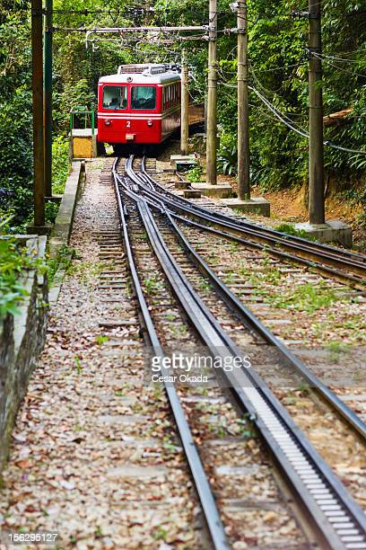 corcovado train - corcovado stock pictures, royalty-free photos & images