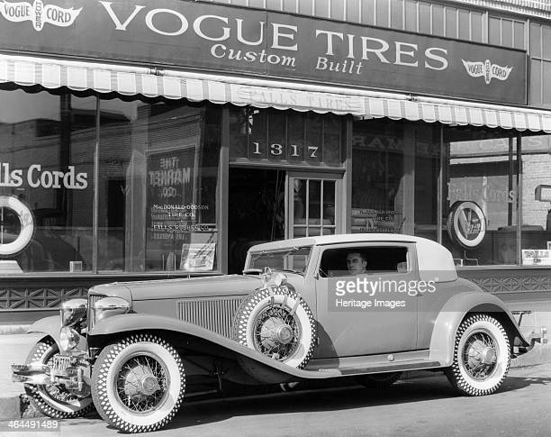 Cord L29 parked outside a showroom USA c1929c1930 The Cord L29 was the first production front wheel drive car made in America Although EL Cord owner...