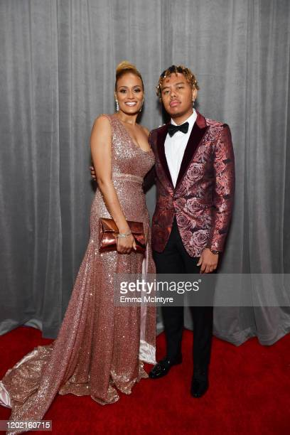 Cordae and guest attend the 62nd Annual GRAMMY Awards at STAPLES Center on January 26 2020 in Los Angeles California