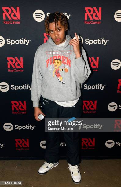 Cordae poses for a photograph backstage during Spotify's RapCaviar Live at Varsity Theater on April 5 2019 in Minneapolis Minnesota