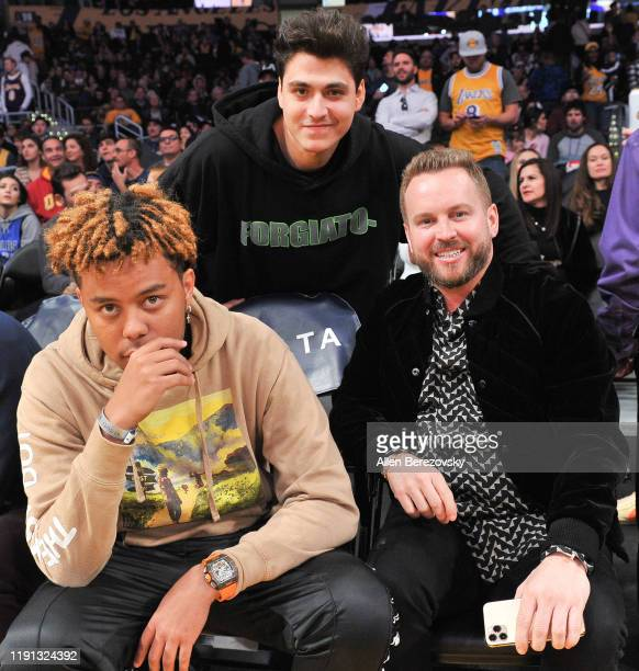 Cordae Shawn Lameh and RD Whittington attend a basketball game between the Los Angeles Lakers and the Dallas Mavericks at Staples Center on December...