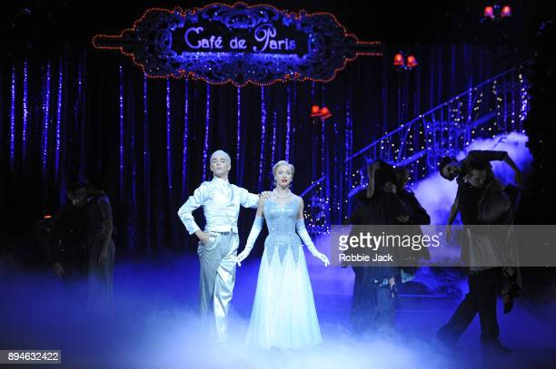 Cordelia Braithwaite as Cinderella and Liam Mower as Angel with artists of the company in Matthew Bourne's Cinderella at Sadler's Wells Theatre on...