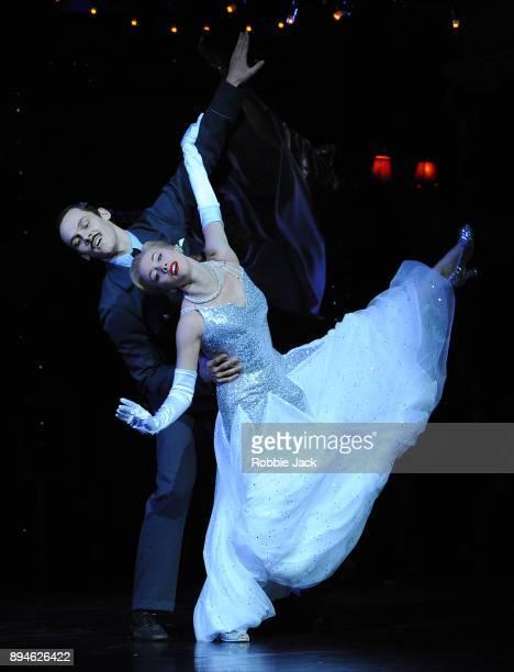 Cordelia Braithwaite as Cinderella and Will Bozier as Harry in Matthew Bourne's Cinderella at Sadler's Wells Theatre on December 15 2017 in London...