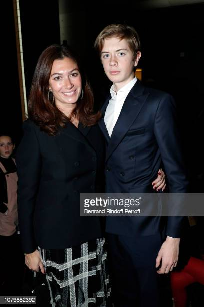 Cordelia de Castellane and her son Andreas attend 'Cendrillon' choregraphing by Rudolf Noureev during 'Reve d'Enfant' Charity Gala at Opera Bastille...
