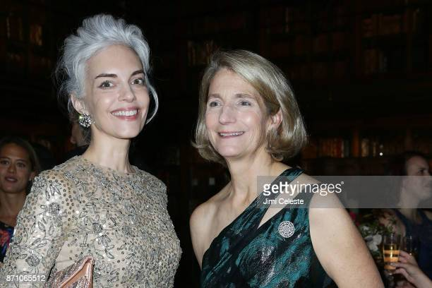 Cordelia Dietrich Zanger and Nonnie Frelinghuysen attend The Morgan Library Museum's Evening Benefit at The Morgan Library Museum on November 6 2017...