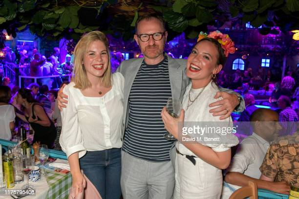 Cordelia Keeley, Mark Gatiss and Jessica Radcliffe-Brown attend the opening night of MAMMA MIA! The Party at Building 6 at The O2 on September 19,...