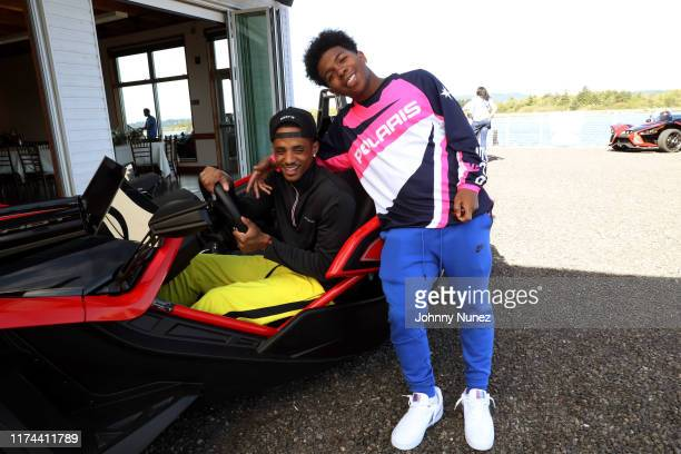 Cordell Broadus and Deshae Frost attend the Star-studded Adventure Ride hosted by Polaris Slingshot And RZR on September 12, 2019 in Tenmile, Oregon.