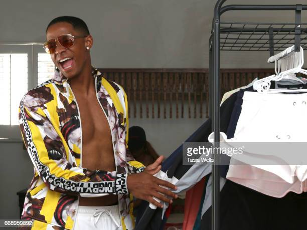 Cordell Broadus attends 40z and Waffles x Coachella Party on April 15 2017 in Palm Springs California