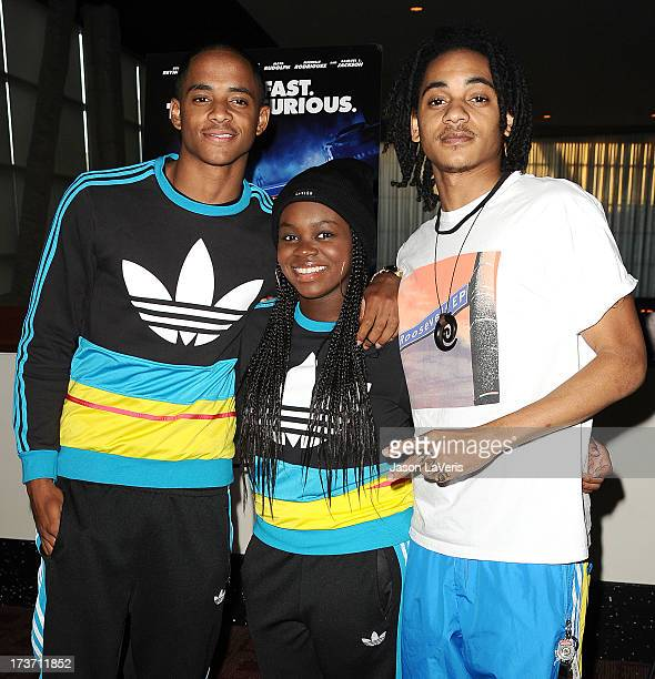 Cordell Broadus Cori Broadus and Corde Broadus attend a screening of Turbo at ArcLight Hollywood on July 16 2013 in Hollywood California