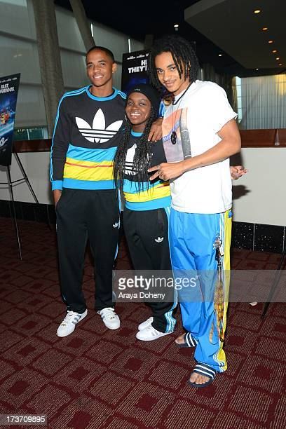 Cordell Broadus Cori Broadus and Corde Broadus attend the Turbo Los Angeles Special Screening at ArcLight Hollywood on July 16 2013 in Hollywood...