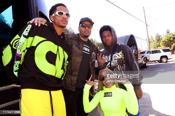 Cordell Broadus, Dorian Harrington, BIA, and Deshae Frost attend the Star-studded Adventure Ride hosted by Polaris Slingshot And RZR on September 12,...
