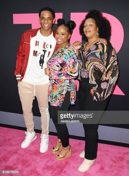 Cordell Broadus Shante Broadus and Lady of Rage attend the premiere of Girls Trip at Regal LA Live Stadium 14 on July 13 2017 in Los Angeles...