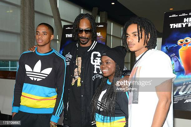 Cordell Broadus Snoop Dogg Cori Broadus and Corde Broadus attend the Turbo Los Angeles Special Screening at ArcLight Hollywood on July 16 2013 in...