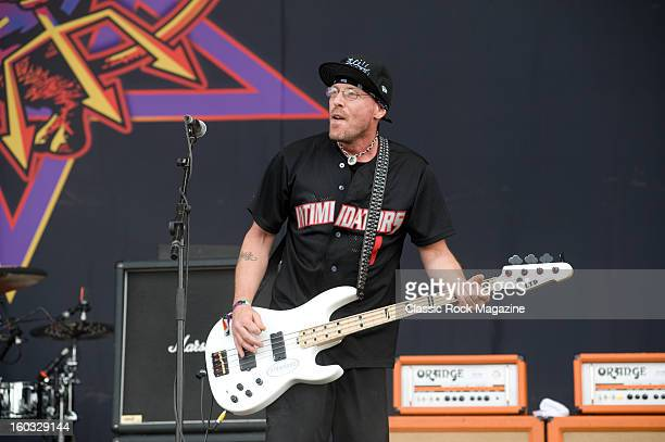 Cordell Crockett of American rock band Ugly Kid Joe performing live onstage at Download Festival June 10 2012