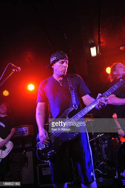 Cordell Crockett of Ugly Kid Joe performs on stage at Manchester Academy on October 24 2013 in Manchester England