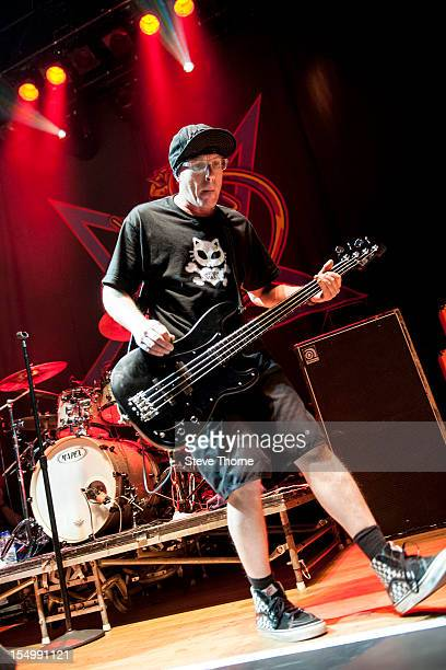 Cordell Crockett of Ugly Kid Joe performs on stage at the Civic Hall on October 25 2012 in Wolverhampton United Kingdom