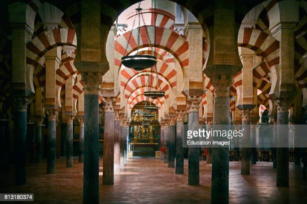 Cordoba Cordoba Province Andalusia southern Spain Interior of La Mezquita or Great Mosque The Historical Centre of Cordoba is a UNESCO World Heritage...