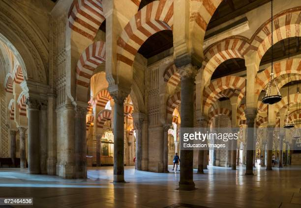 Cordoba Cordoba Province Andalusia southern Spain Interior of La Mezquita the Great Mosque The historical center of Cordoba is a UNESCO World...