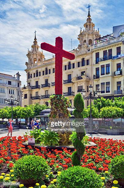 cordoba - crosses with flowers stock pictures, royalty-free photos & images