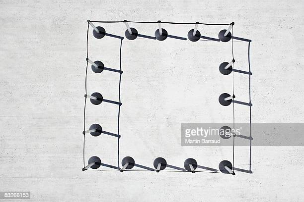 cordon posts in square shape - roped off stock pictures, royalty-free photos & images