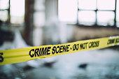Cordon Tape On A Crime Scene
