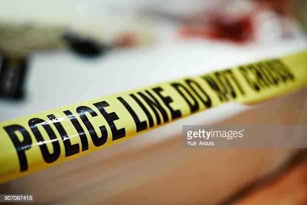 Cordoned off crime scene