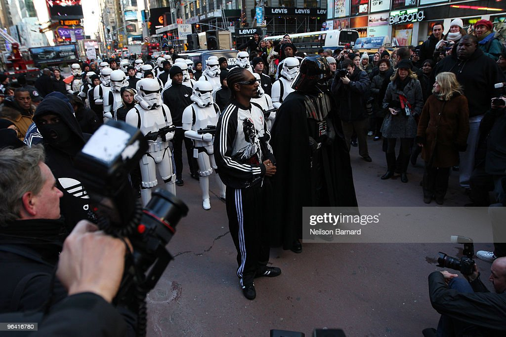 Snoop Dogg & Stormtroopers Launch  Adidas Originals X Star Wars Collection : News Photo