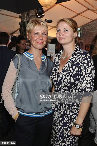 Cordula Stratmann and Annette Frier attend the Film und Medienstiftung NRW summer party on June 8 2016 in Cologne Germany