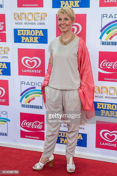 Cordula Stratmann attends the Radio Regenbogen Award 2016 at Europapark on April 22 2016 in Rust Germany