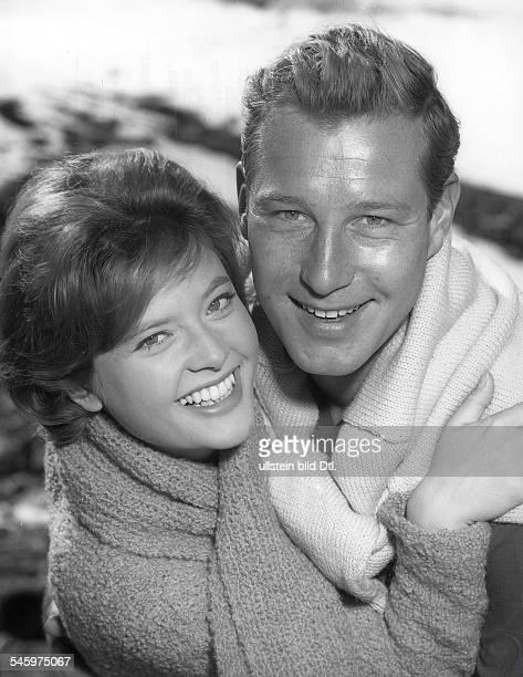 Cordula Trantow *Actress director Germanywith the actor Hansjörg Felmy 1960