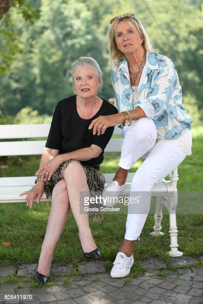 Cordula Trantow and Diana Koerner during the 'WaPo Bodensee' photo call at Schloss Freudental on August 1 2017 in AllensbachFreudental near Konstanz...