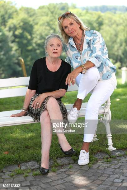 Cordula Trantow and Diana Koerner during the 'WaPo Bodensee' photo call at Schloss Freudental on August 1, 2017 in Allensbach-Freudental near...
