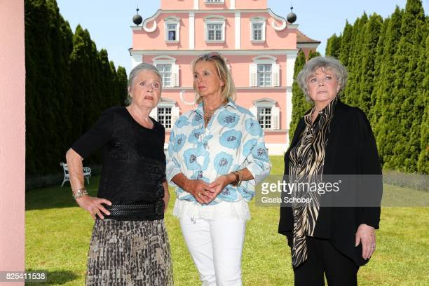 Cordula Trantow, Diana Koerner and Grit Boettcher during the 'WaPo Bodensee' photo call at Schloss Freudental on August 1, 2017 in...