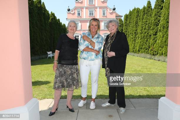 Cordula Trantow Diana Koerner and Grit Boettcher during the 'WaPo Bodensee' photo call at Schloss Freudental on August 1 2017 in AllensbachFreudental...