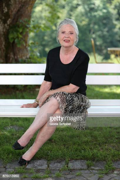Cordula Trantow during the 'WaPo Bodensee' photo call at Schloss Freudental on August 1, 2017 in Allensbach-Freudental near Konstanz, Germany.