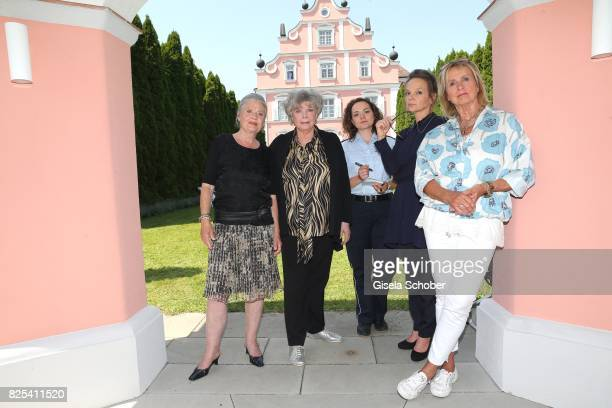 Cordula Trantow Grit Boettcher Wendy Guentensperger Sissy Hoefferer and Diana Koerner during the 'WaPo Bodensee' photo call at Schloss Freudental on...