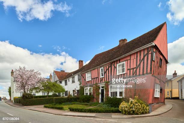 cordwainers cottage, lavenham, suffolk, england - lavenham stock photos and pictures