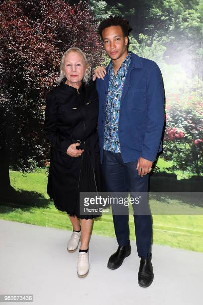 Corentin Fila and Agnes B attend the Agnes B Menswear Spring/Summer 2019 show as part of Paris Fashion Week on June 24 2018 in Paris France