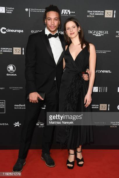 Corentin Fila and Daphne Patakia attends the 32nd European Film Awards at Haus Der Berliner Festspiele on December 07 2019 in Berlin Germany