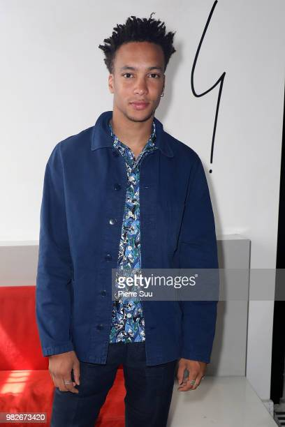 Corentin Fila attends the Agnes B Menswear Spring/Summer 2019 show as part of Paris Fashion Week on June 24 2018 in Paris France