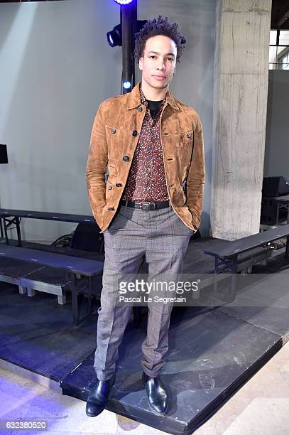 Corentin Fila attends the Lanvin Menswear Fall/Winter 20172018 show as part of Paris Fashion Week on January 22 2017 in Paris France