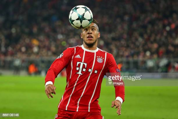 Corentin Tolisso of Bayern Muenchen controls the ball during the UEFA Champions League group B match between Bayern Muenchen and Paris SaintGermain...