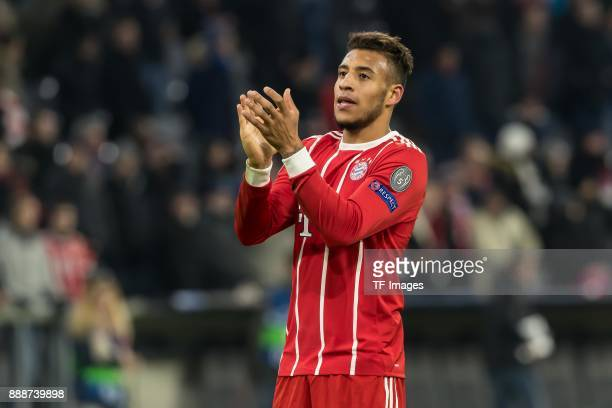 Corentin Tolisso of Bayern Muenchen gestures during the UEFA Champions League group B match between Bayern Muenchen and Paris SaintGermain at Allianz...